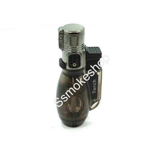 Windproof Single Jet Torch Flame Refillable Butane Cigar Cigarette Gas Lighter