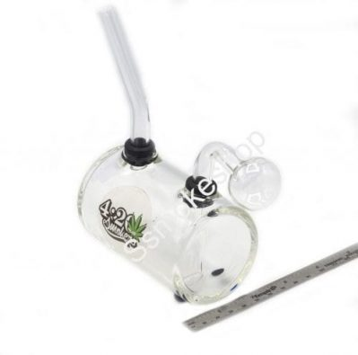 Thick Cylinder Glass Clear Oil Burner Bubbler Pipe for Oil Wax