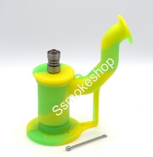 Silicone Water Pipe Bong Oil Dab Rig 5 inches w/ domeless titanium nail