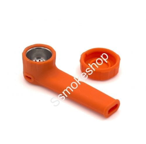 Silicone Hand Pipe Spoon with Cap