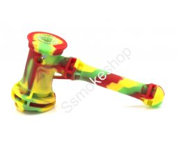 "Silicone Hammer Bubbler 7"" smoking pipe"