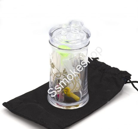 """4.5"""" Acrylic Oil Burner Water Pipe Bong w/ silicone tube"""