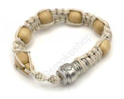 Wood beads Bracelet Metal Pipe