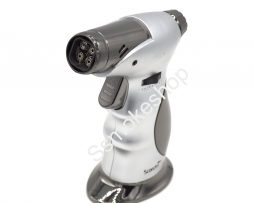 Scorch quad Torch 45 degree handheld with cigar punch 4 torch