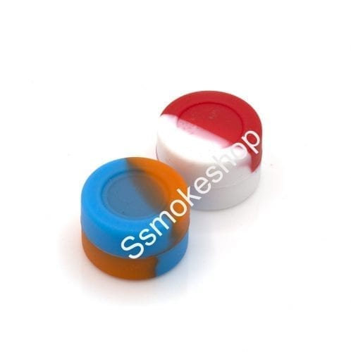"""Set of 2pcs 1"""" Silicone Container Jars Dab For Concentrate Oil Wax"""