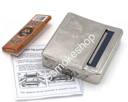 Silver Metal Rolling Machine Case Storage Cigarette Roller