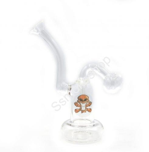 "6"" Glass Oil Burner Bubbler Water Bong w/ build-in downstem"