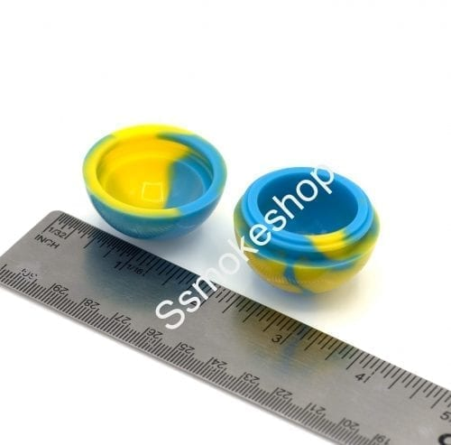 """1.5"""" Ball Silicone Safe Container Jars Dab For Concentrate Oil Wax"""