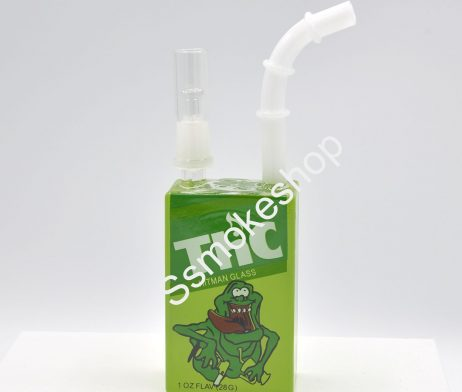 LIQUID DRINK BOTTLE GLASS JUICE BOX WATER PIPE OIL RIG BONG 7.5""