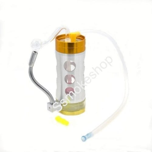 """6"""" Aluminium Acrylic Oil burner Bubbler Water Pipe with Build-in Lighter"""