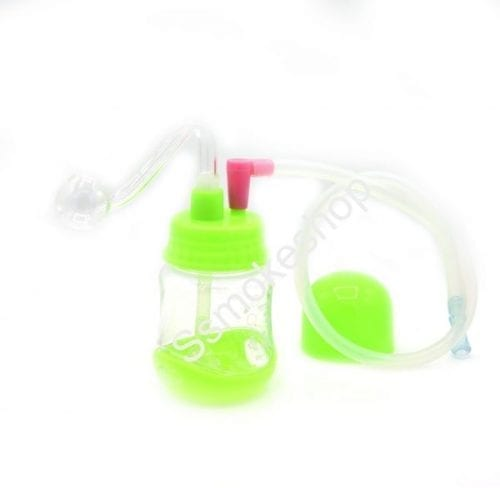 "3.5"" Mini Acrylic Oil Burner Water Pipe Bong w/ silicone tube"