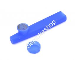 "Mini 3.5"" Silicone hand pipe w/ metal screen"