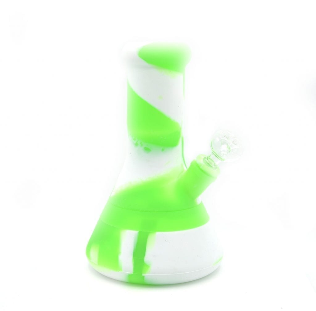 Silicone Water Pipe Bong 8 inches thick with glass bowl