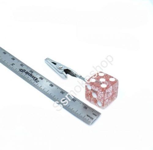 """2.5"""" Translucent Dice Design Roach Clip (1 Piece)"""