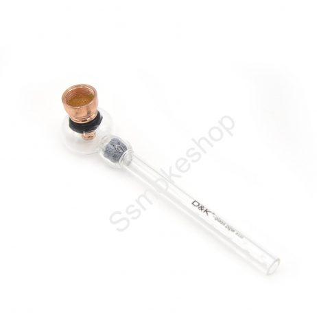 """6"""" Glass oil burner metal pipe dual functions w/ honeycomb percolator pipe"""