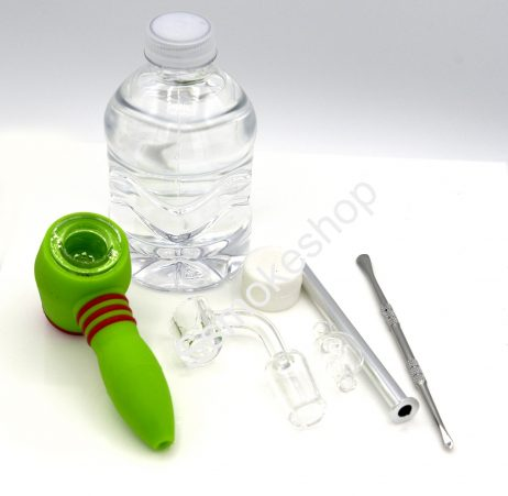 SILIKIT 3 IN 1 TRAVEL KIT ( Bubbler - Silicone Pipe - Rig )