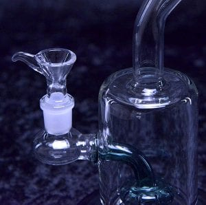 Shower head Stem Glass Water Bong Pipe Rig