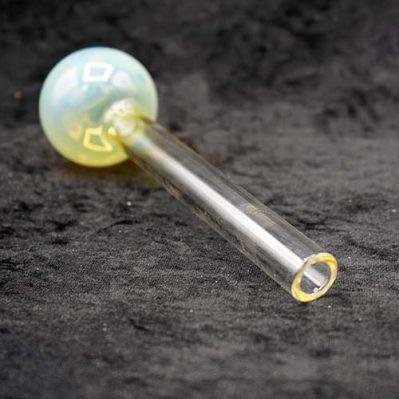 "JUMBO LARGE PYREX GLASS OIL BURNER PIPE COLOR CHANGE 7"""