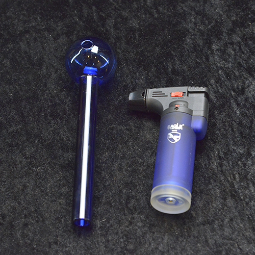 """6"""" Blue Jumbo OB + 4.5"""" Torch lighter"""