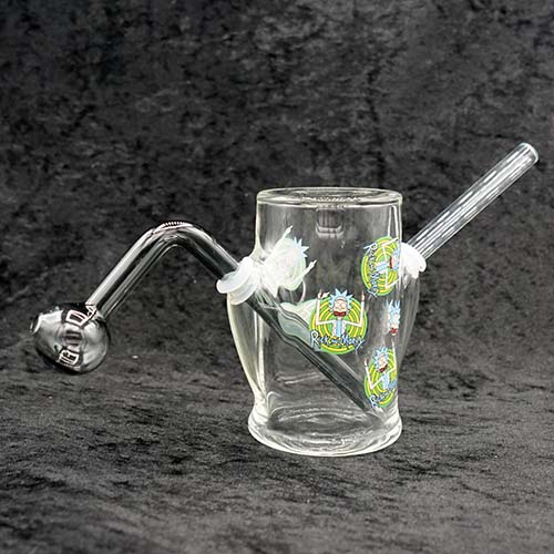 Thick & Heavy Glass Cylinder Bubbler