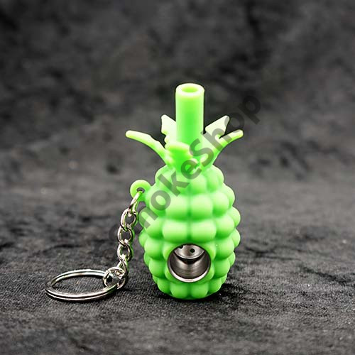 Pineapple Silicone Keychain Pipe
