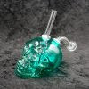Green Large Glass Skull Oil Burner Bubbler Water Smoking Bong