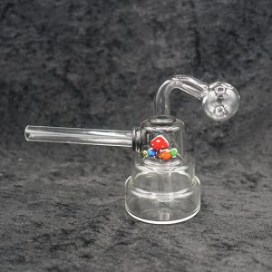 Glass Tower Body Oil Burner Bubbler With Paint Design
