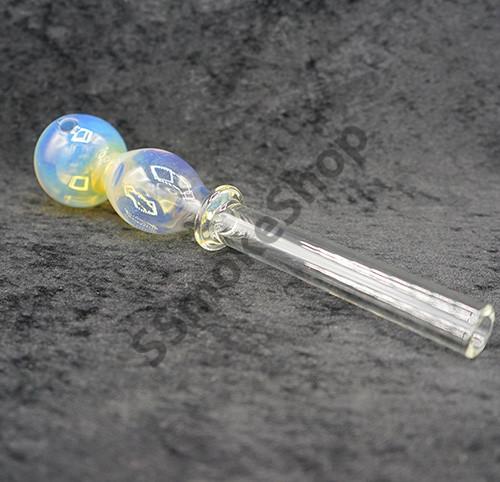 Jumbo dual bubbles oil burner pipe