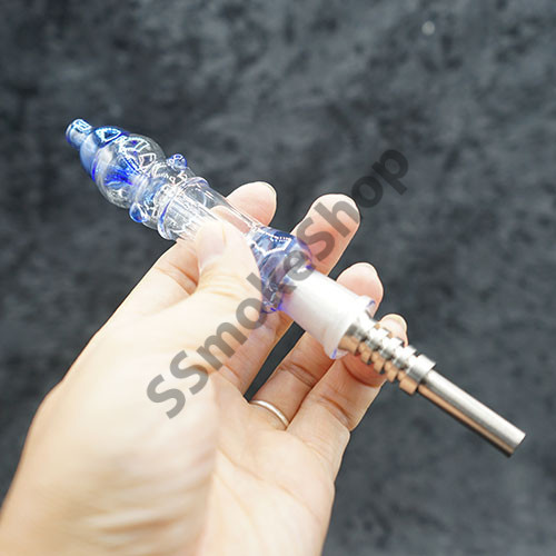 Blue Glass Nectar Collector 14mm