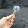 Fancy Round Mouth Color Change Oil Burner Pipe