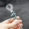 Fancy Color Neck Design Glass 5inches Oil Burner Pipe