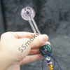 Donut Design Oil Burner Glass Pipe w/ Sling