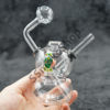 Fancy Dual Dome Body Oil Burner Bubbler 5 inches