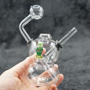 Fancy Dual Dome Body Oil Burner Bubbler 5 inches