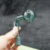 Glass Teal Color Bent Oil Burner 19mm