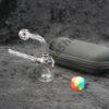 Glass Oil Burner Pipe Silicon Jar Set