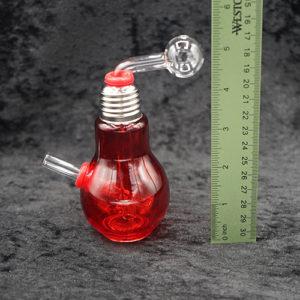 Mini 5 inches Bulb Oil Burner Bubbler Glass Pipe Color