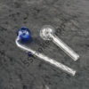 Glass Oil Burner Pipe Clear And Color Head Bent Set