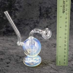 Color Change Body Oil Burner Bubbler Glass 5 inches