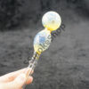 Color Change Two Bubbles Glass Oil Burner Pipe 8 inches