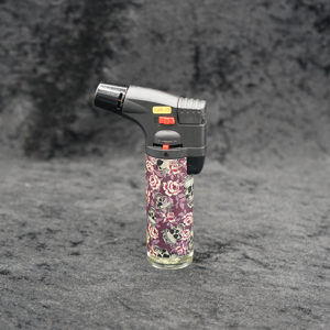 Torch lighter Angle Flame Sugar Skull Design