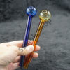 Amber and Blue Color Oil Burner Glass Pipe Set 6 inches