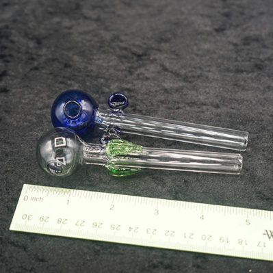 Blue and Green Color Dot Glass Oil Burner Set