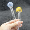 Blue and Yellow Color Head Glass Oil Burner Set