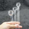Clear Glass Oil Burner Pipe Multi Length Set